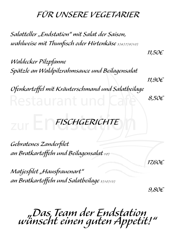 Menükarte Endstation Stand 13.03.2020 12